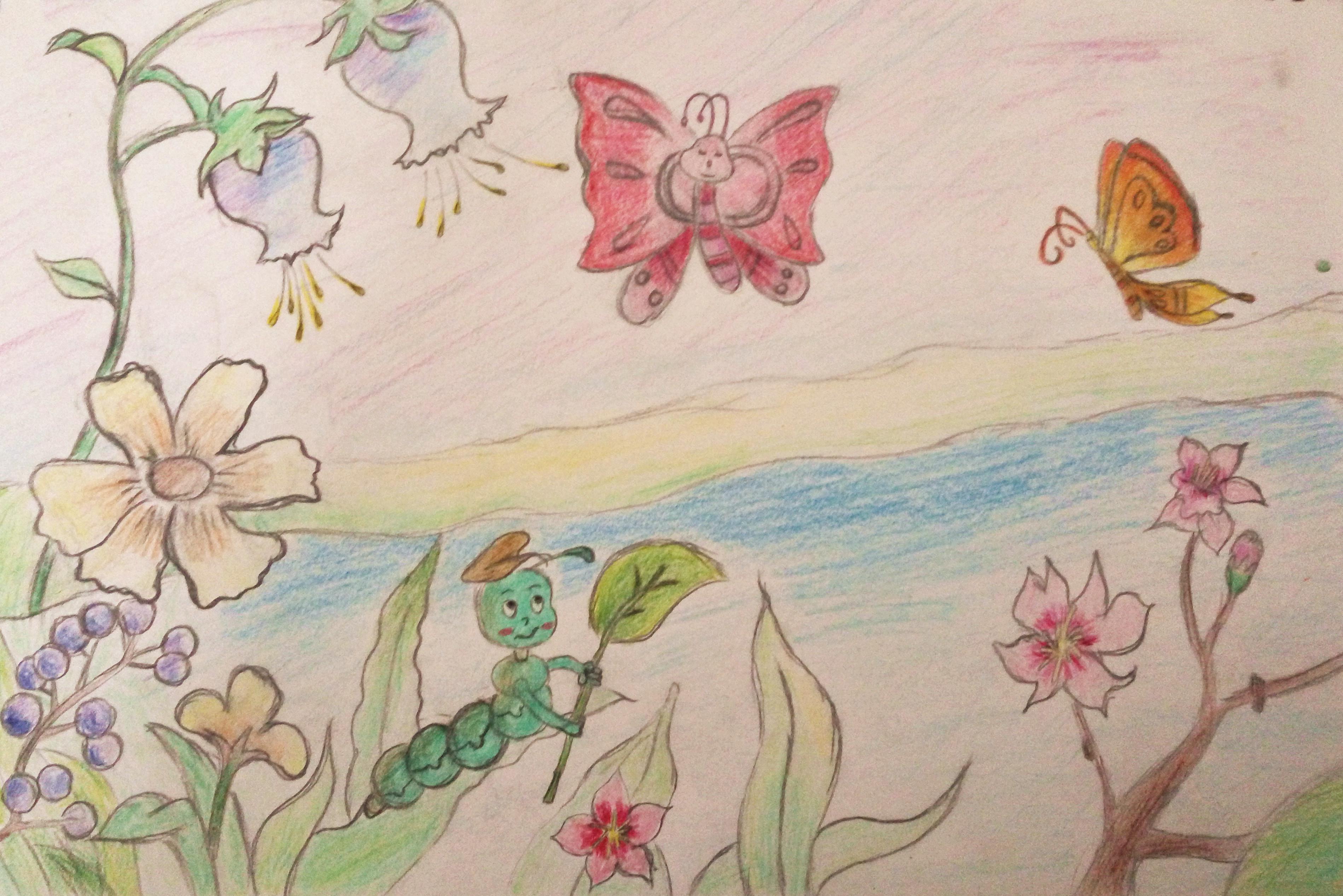 叶璇:儿童简笔画-春天来了