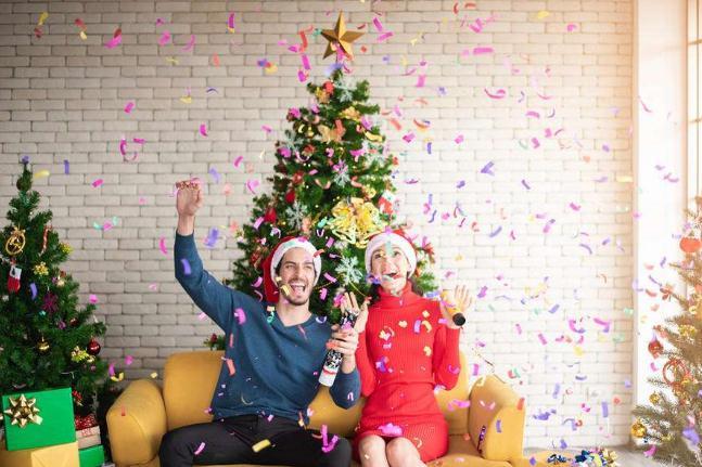 圣诞织带装饰效果图片