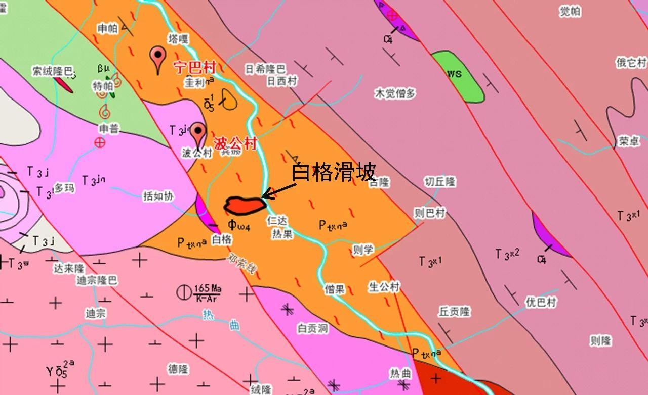 滑坡区地质图