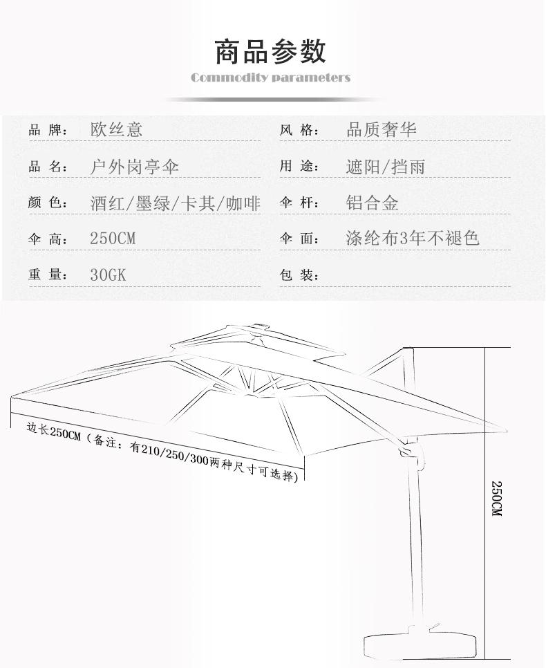 岗亭伞尺寸图
