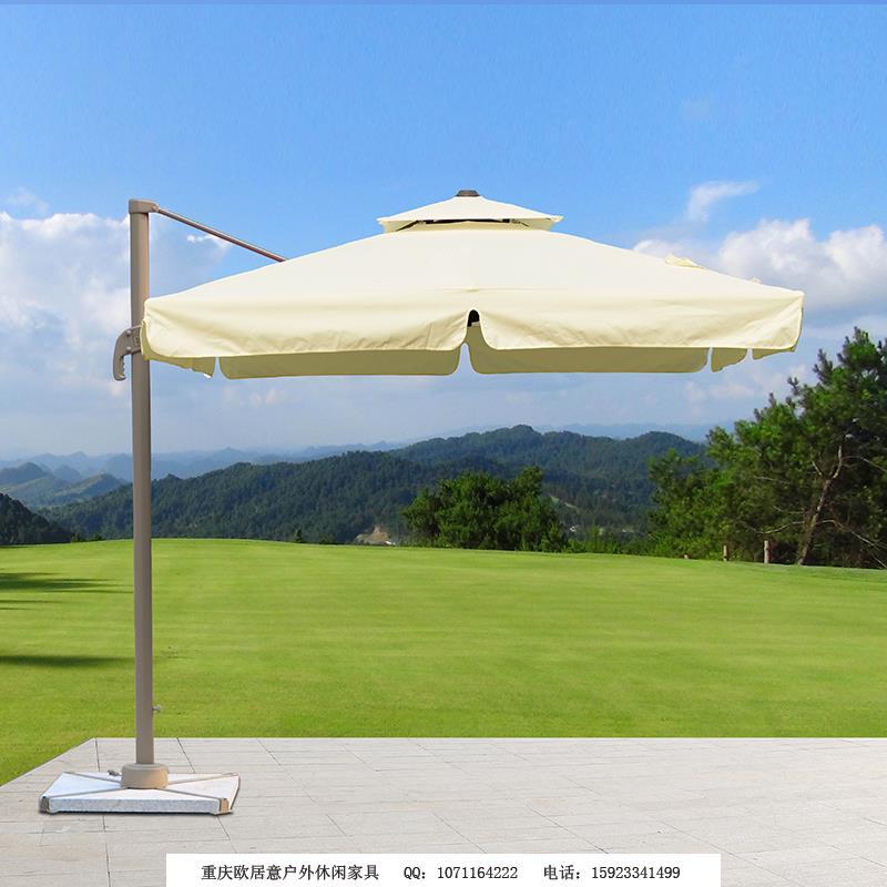 2.5米方形罗马伞米白色