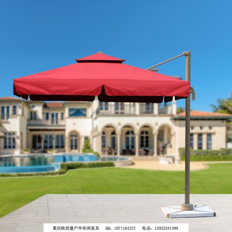 2.5米方形罗马伞枣红色