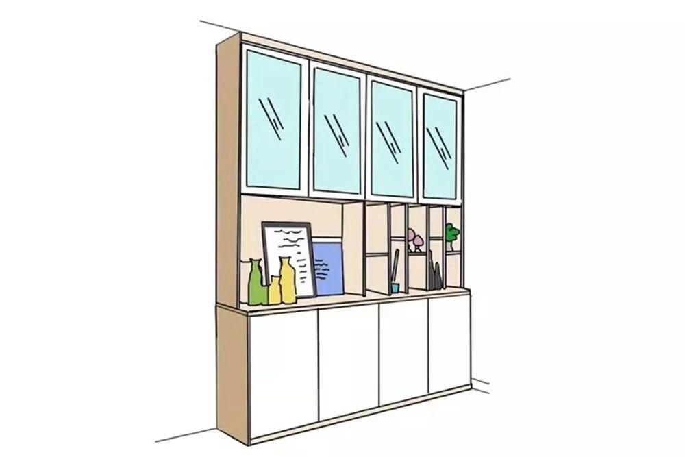 餐酒柜:餐邊柜與酒柜合二為一,餐廳擴容5m2!-10
