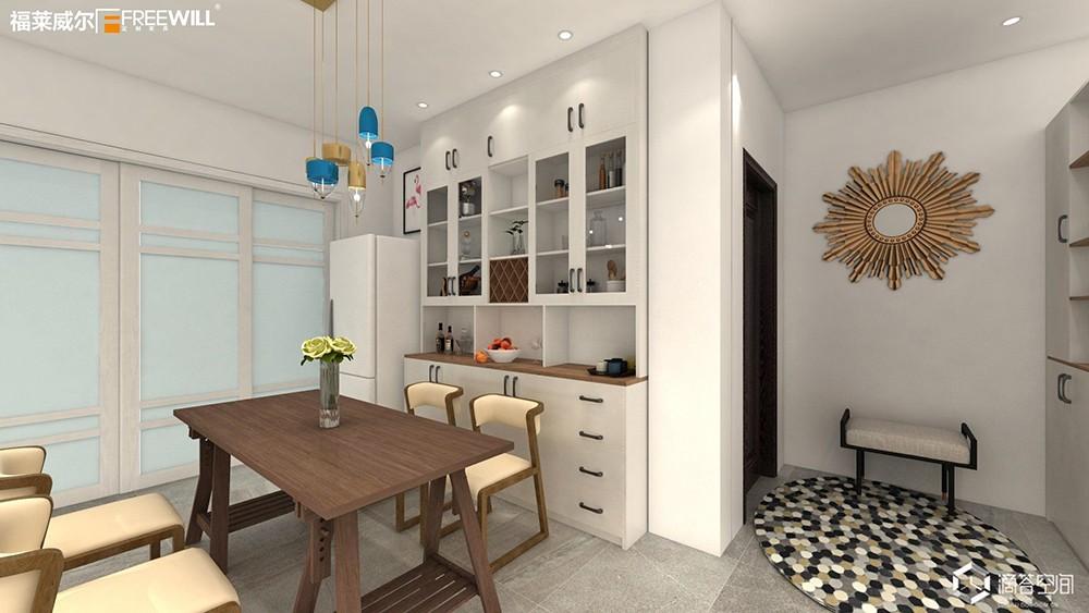 餐酒柜:餐邊柜與酒柜合二為一,餐廳擴容5m2!-12