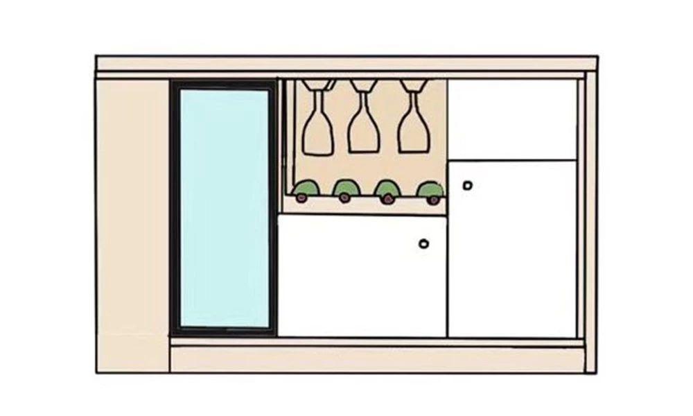 餐酒柜:餐邊柜與酒柜合二為一,餐廳擴容5m2!-24
