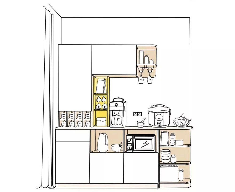 餐酒柜:餐邊柜與酒柜合二為一,餐廳擴容5m2!-3