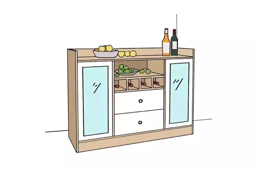 餐酒柜:餐邊柜與酒柜合二為一,餐廳擴容5m2!-5