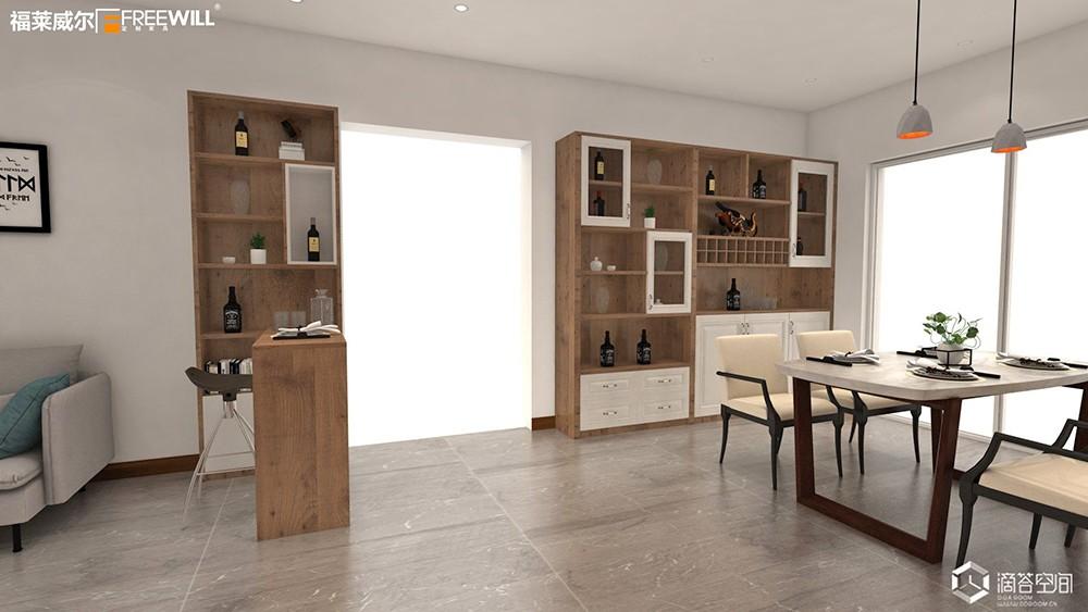 餐酒柜:餐邊柜與酒柜合二為一,餐廳擴容5m2!-9