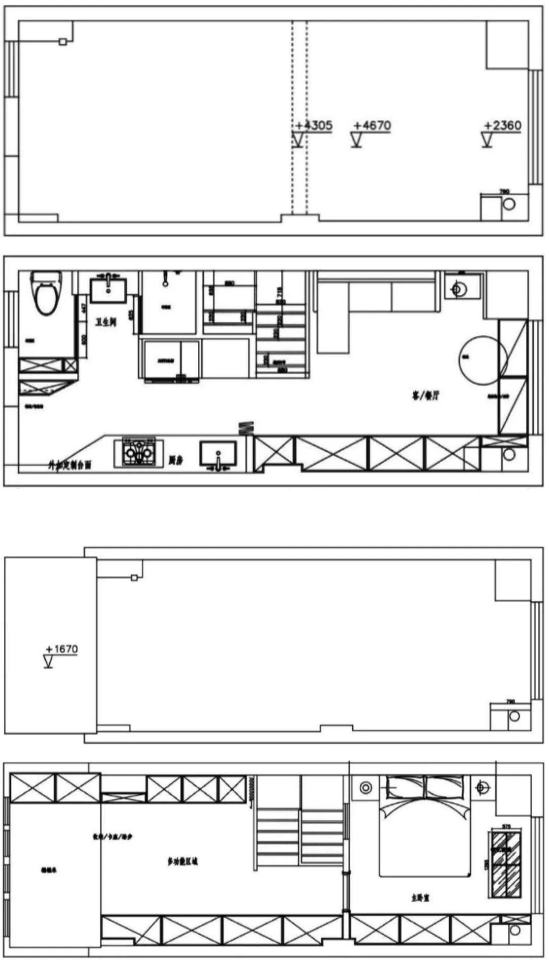 36㎡簡約風躍層單身公寓,過道加入收納柜更實用!-1