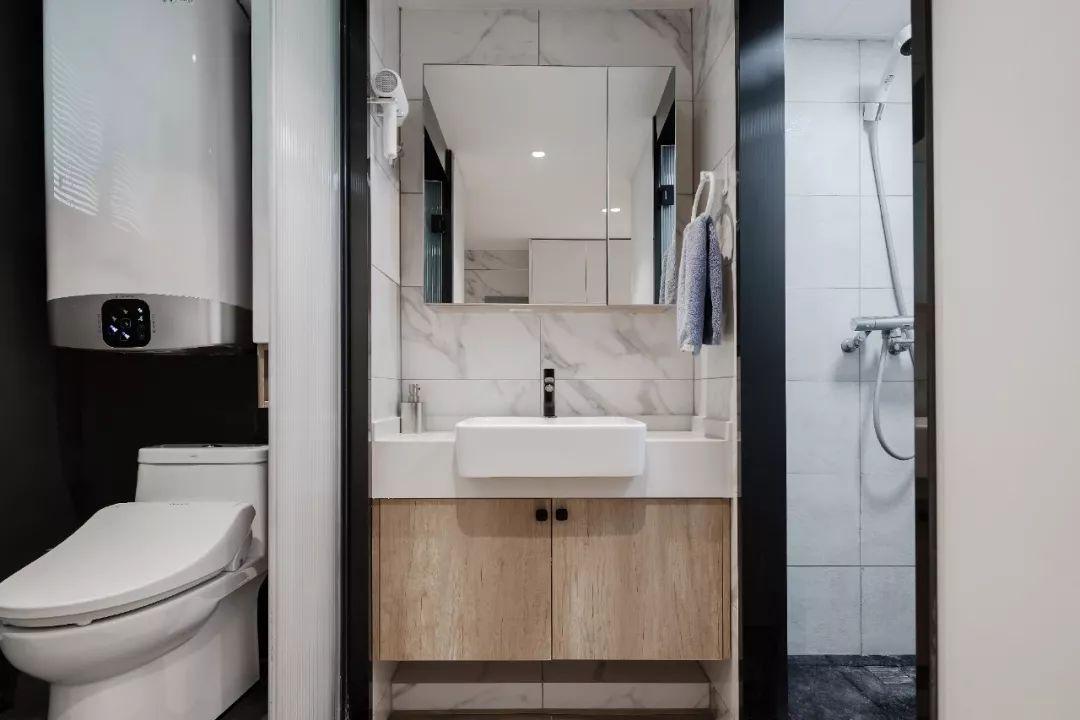 36㎡簡約風躍層單身公寓,過道加入收納柜更實用!-10