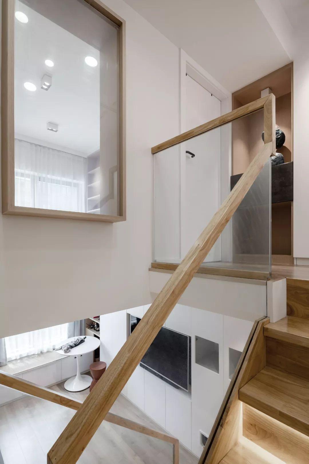 36㎡簡約風躍層單身公寓,過道加入收納柜更實用!-13