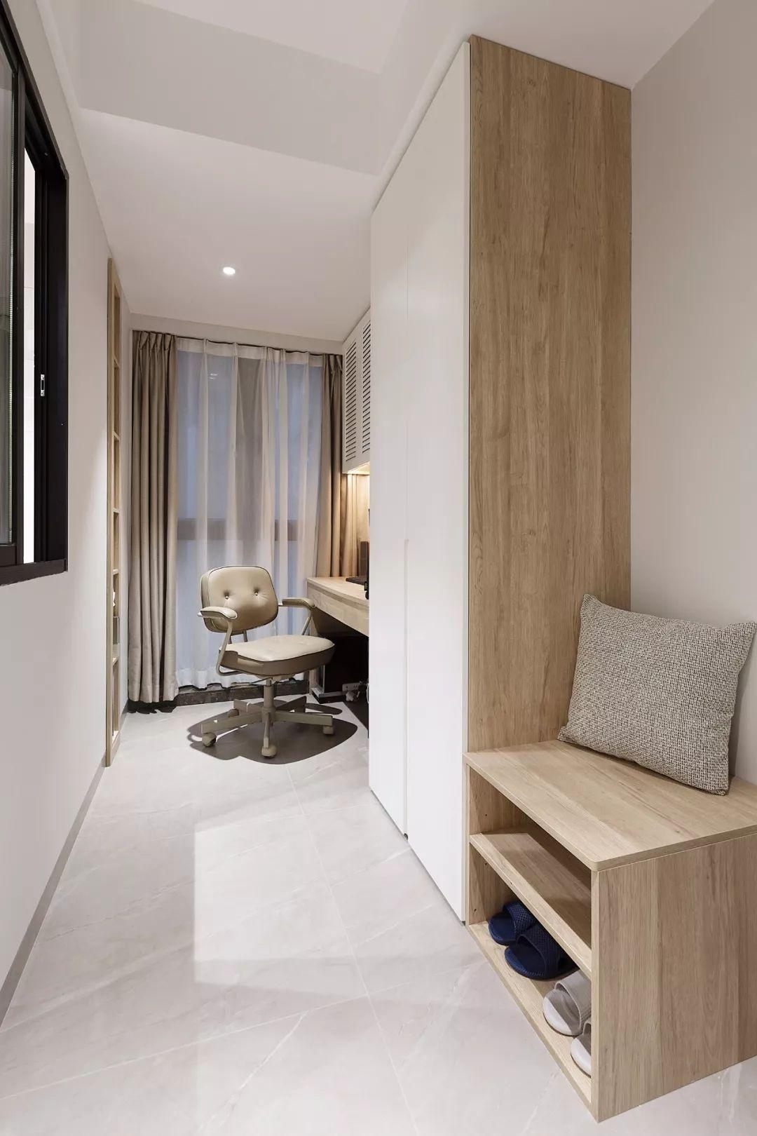 78㎡原木風兩居室,合理利用空間,讓家多出一個工作區。-1