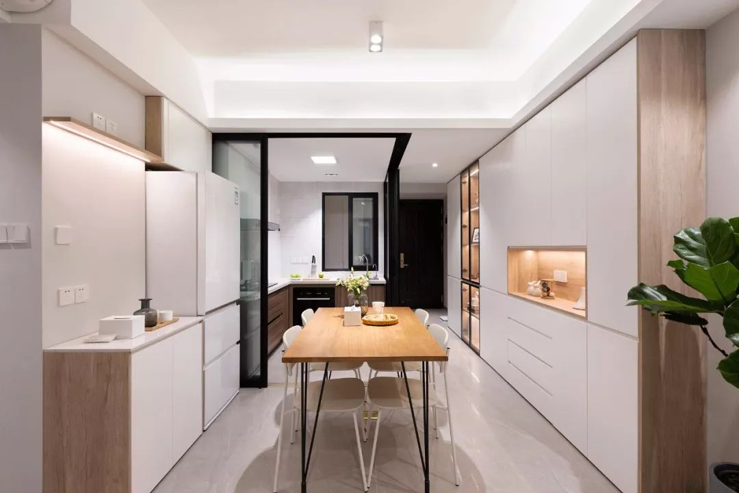 78㎡原木風兩居室,合理利用空間,讓家多出一個工作區。-2
