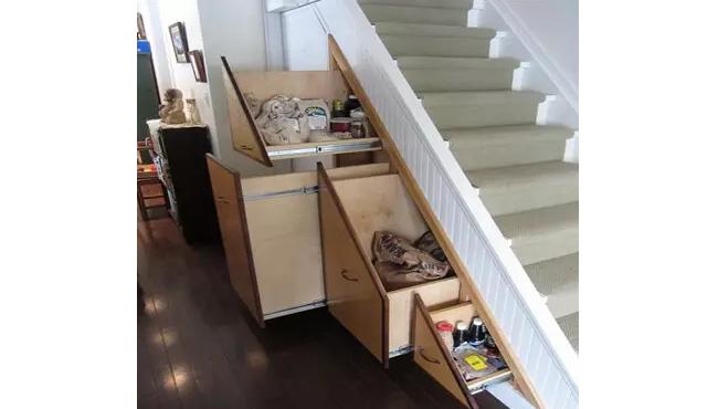 福萊威爾定制家具-樓梯收納