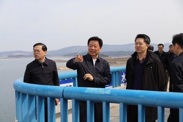 天津市副市長李樹起調研丹江口大壩加高工程