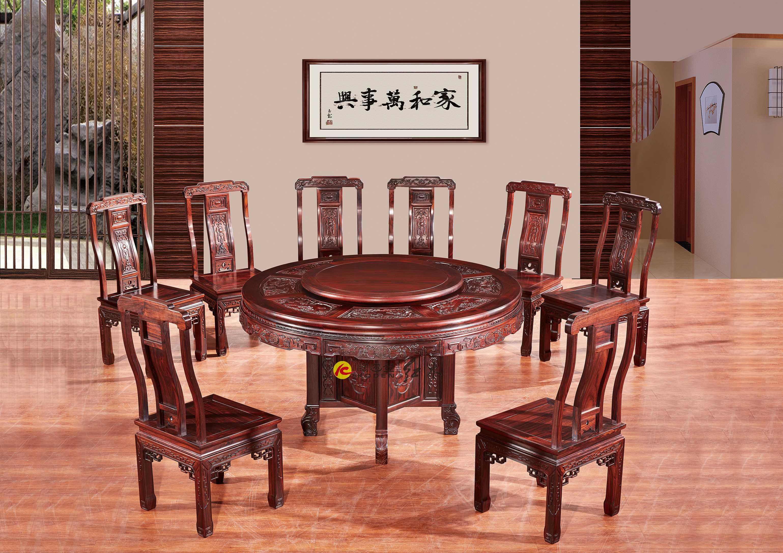阔叶黄檀-CZ-1.38米直角雕花圆台
