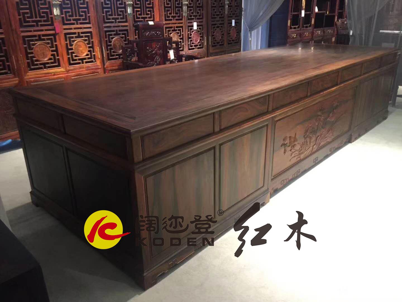 129-JZ-129-JZ-376QSBGZ交趾黄檀376清式办公桌3拷贝