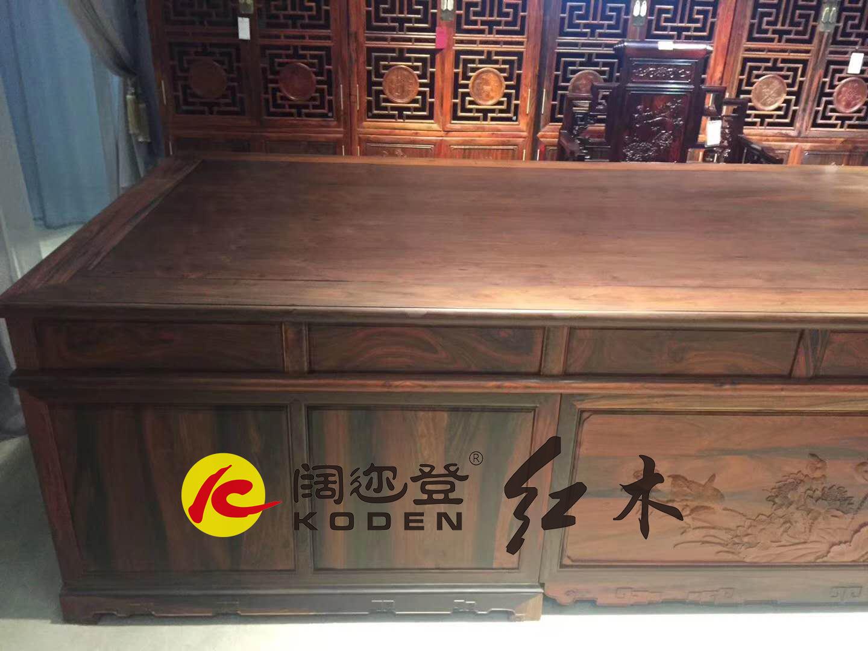 129-JZ-129-JZ-376QSBGZ交趾黄檀376清式办公桌4拷贝