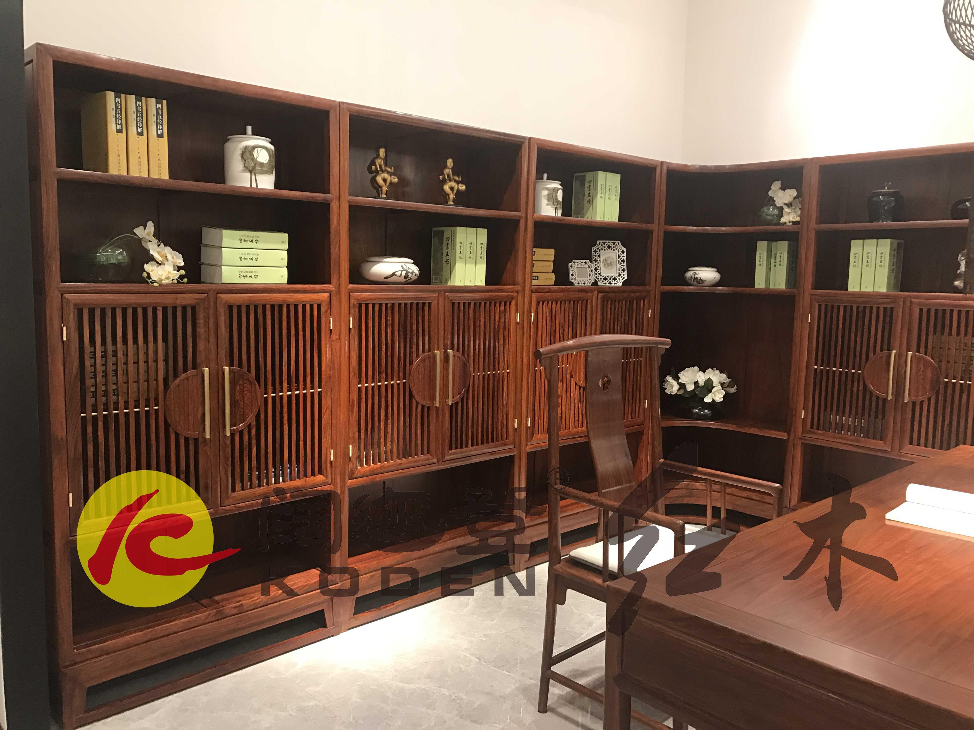 1-225-CW-XZSXLZJSG1新中式系列转角书柜1拷贝