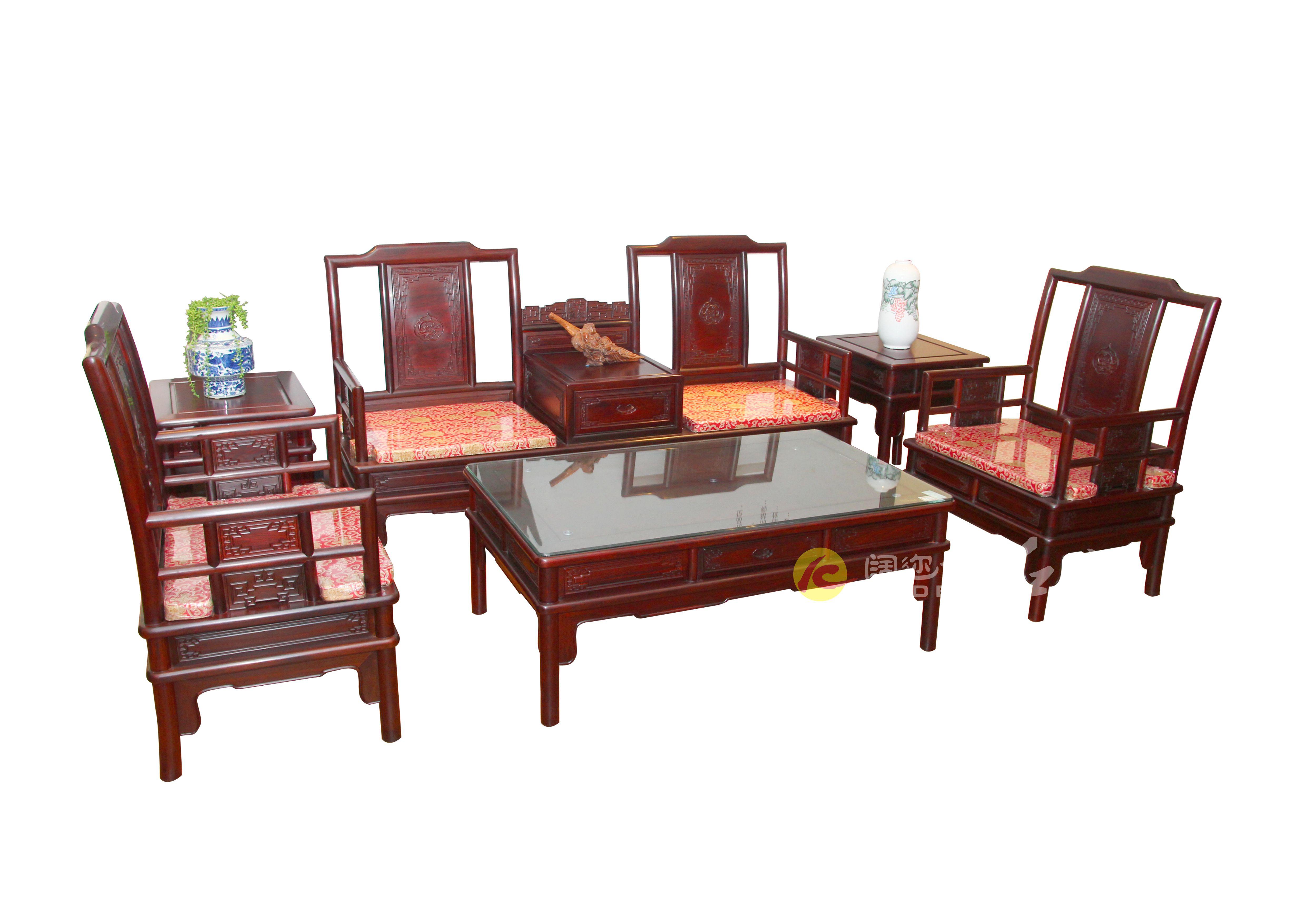 豪华明式红酸枝沙发3.1mX1.8m