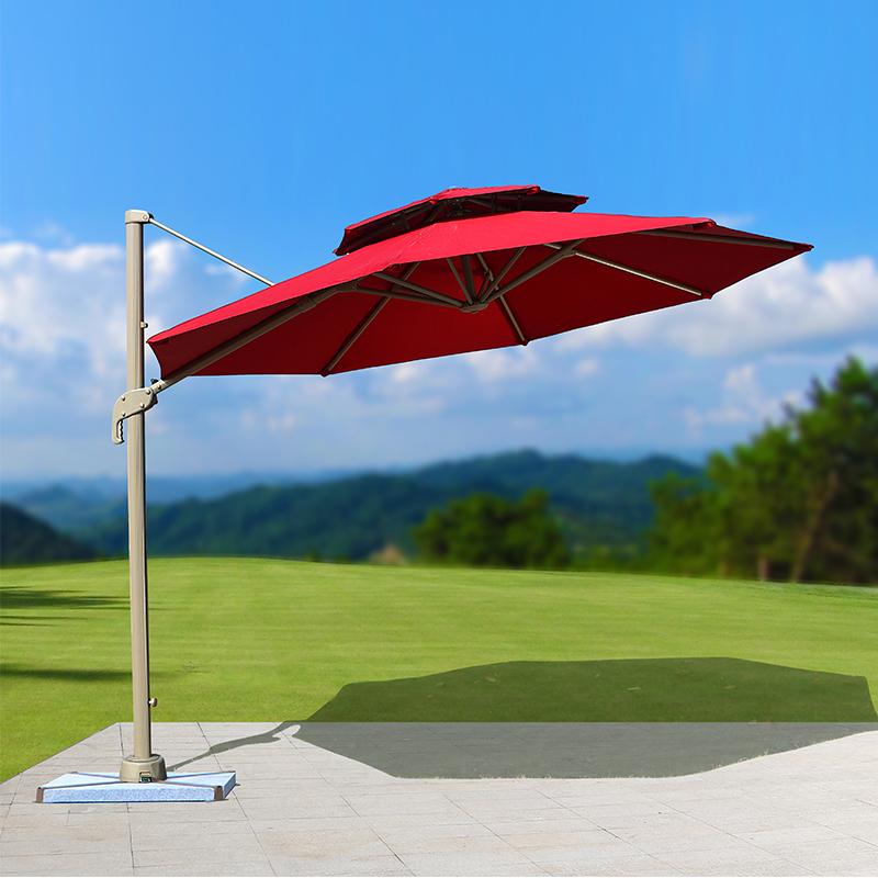 3米圆形罗马伞枣红色