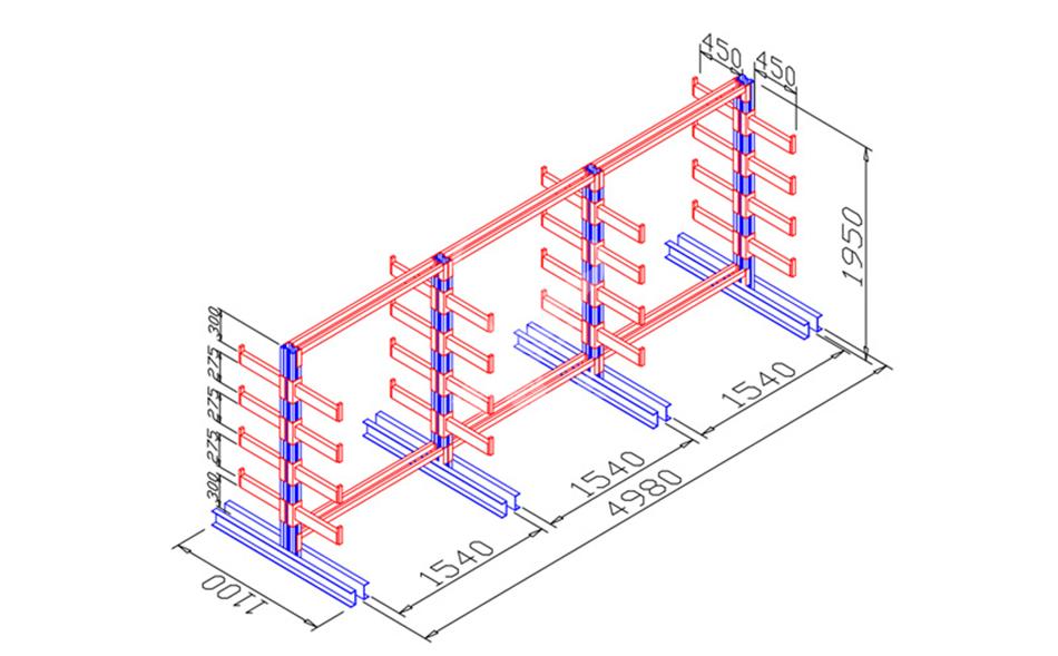 悬臂货架效果图-3