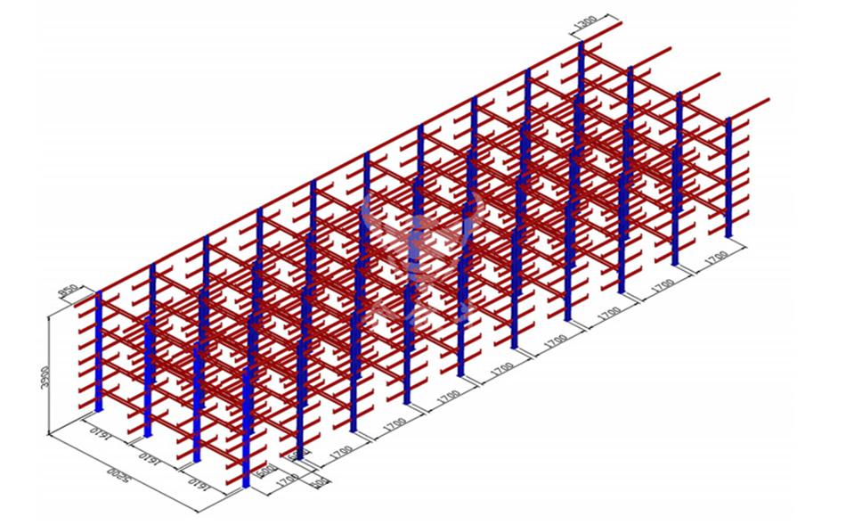 悬臂货架效果图-4