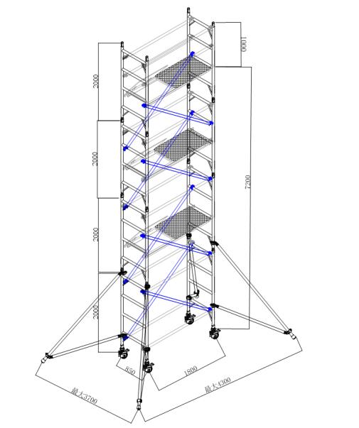 單寬7.2米平臺