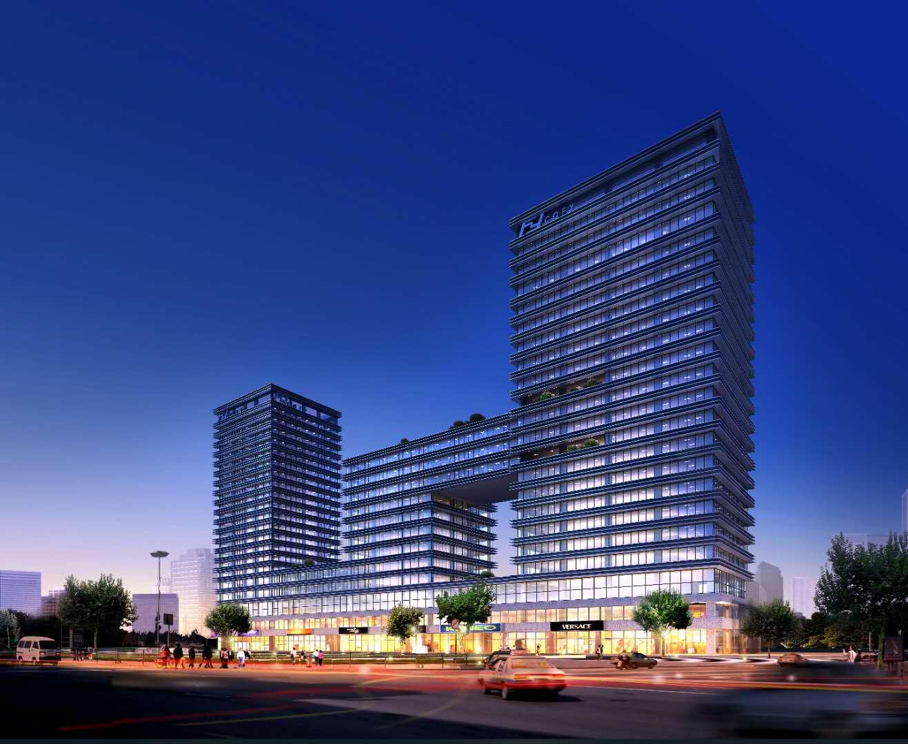 重庆大学城教育科技促进中心幕墙及室外环境工程1