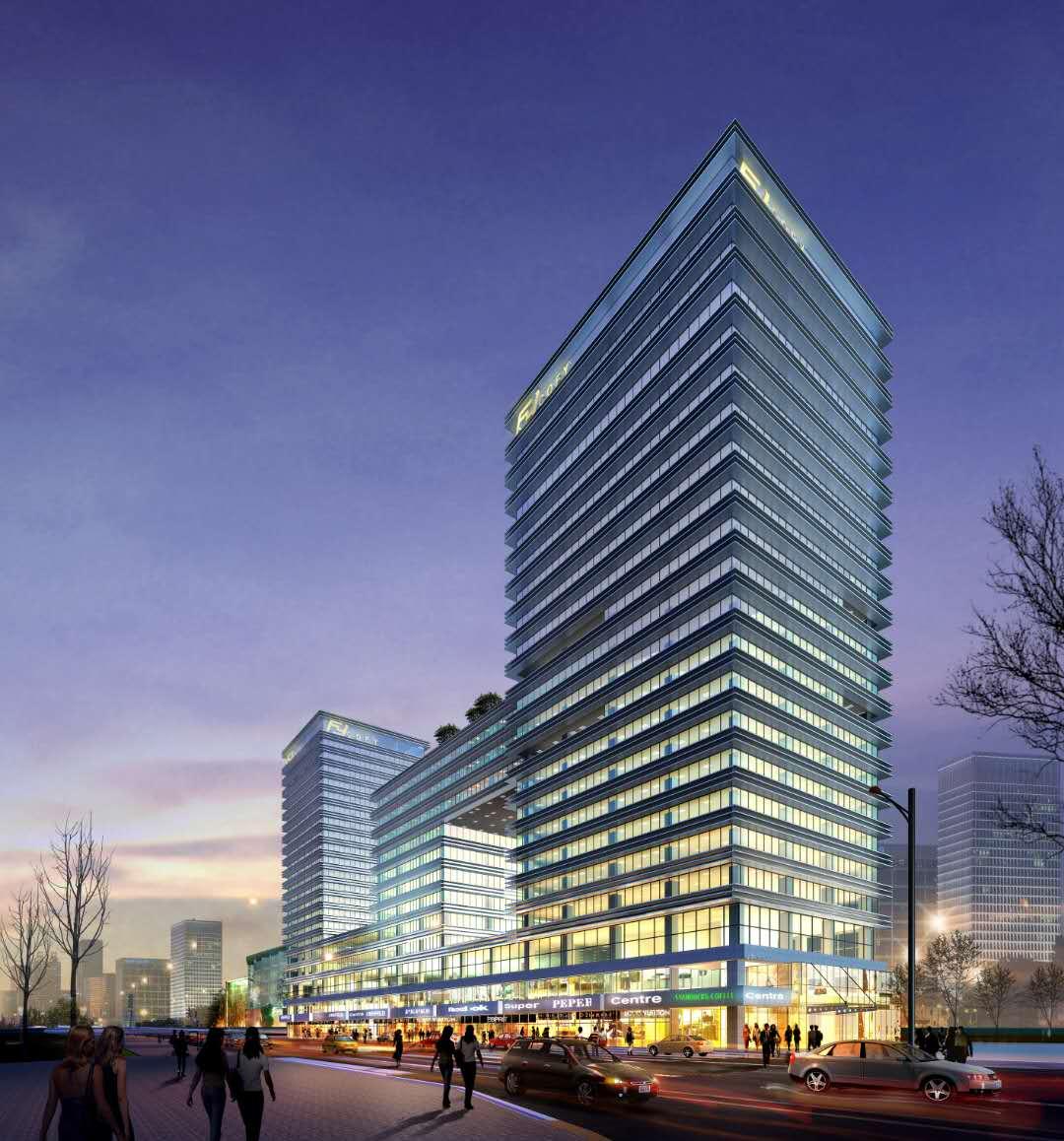 重庆大学城教育科技促进中心幕墙及室外环境工程2