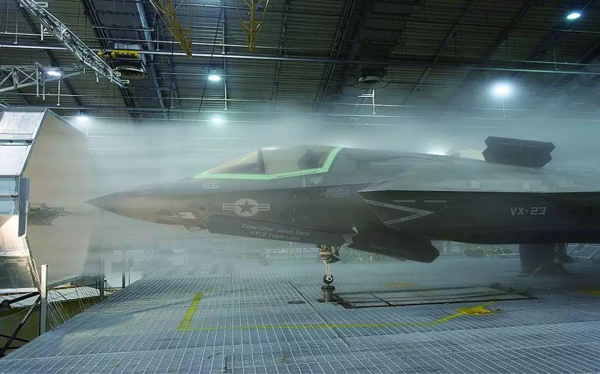 F-35B进行冷试验的情况