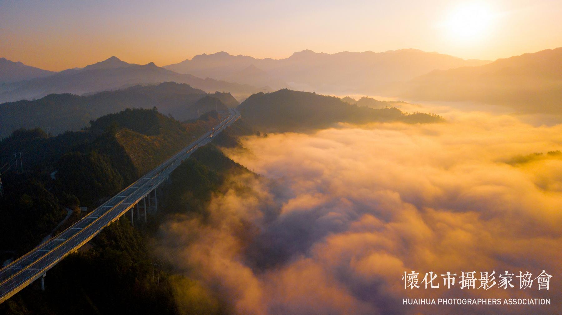 云蒸霞蔚三江桥-5