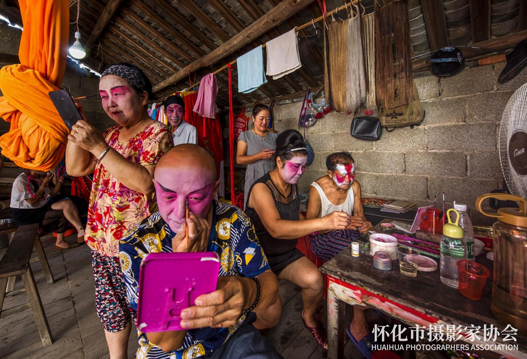 阳戏班子--刘旭东-会同县税务局-418300-电话13548997999-拍摄于湖南省会同县堡子镇