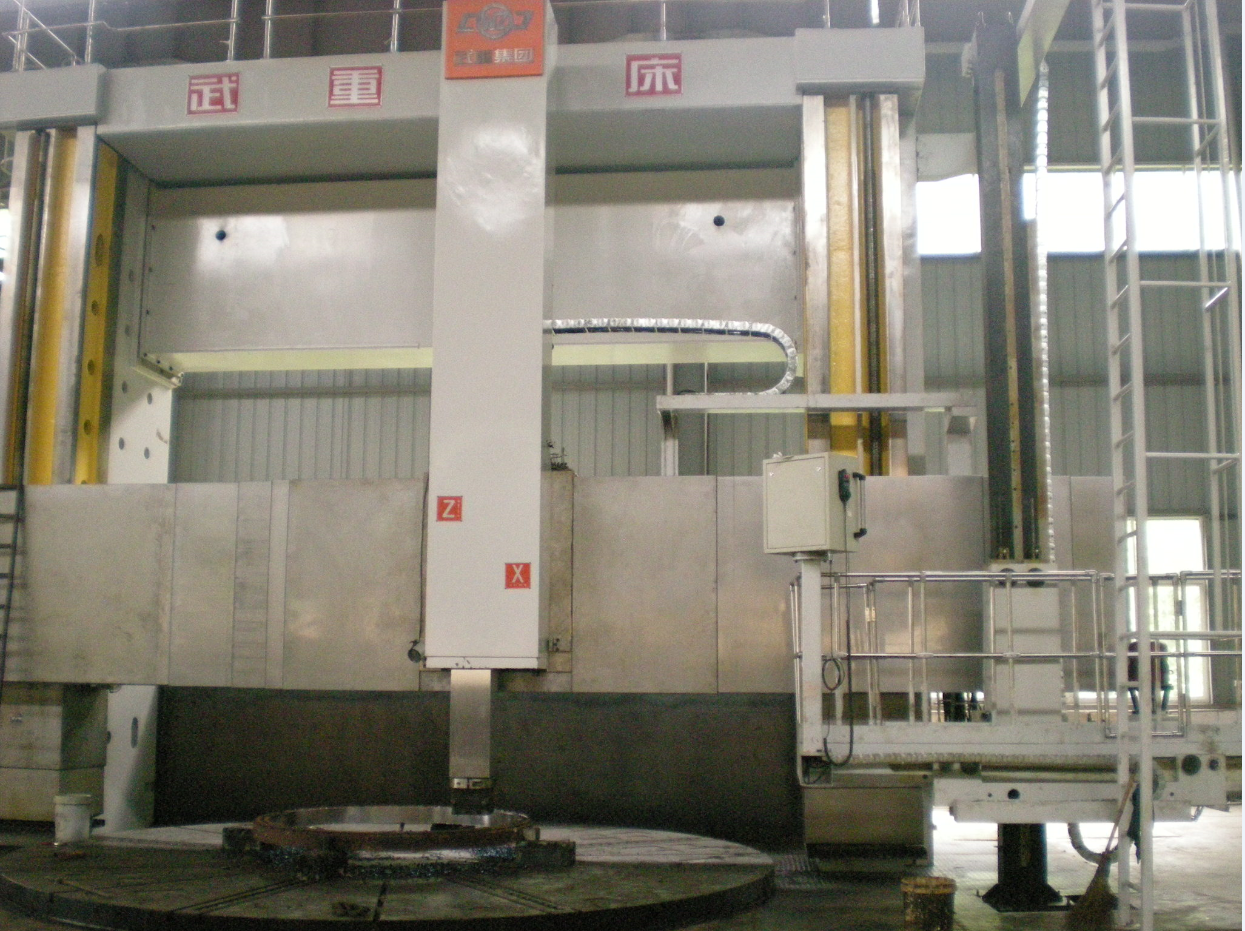 CK5263E重型双柱立式数控车床,最大切削直径6300mm.
