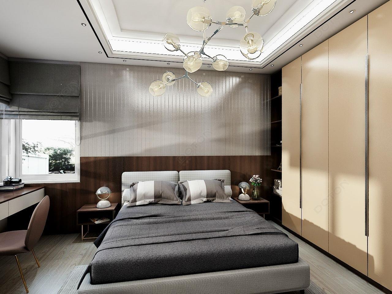 番木色卧室-1_看圖王