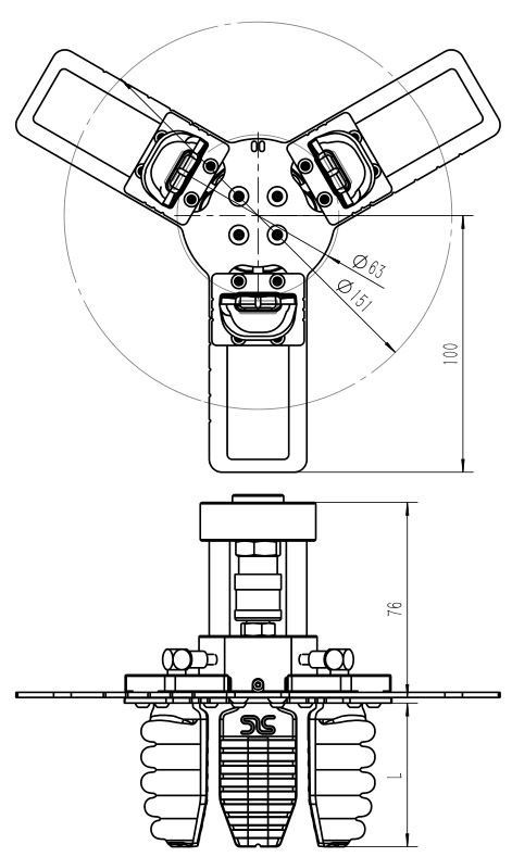 圓周型C13手爪