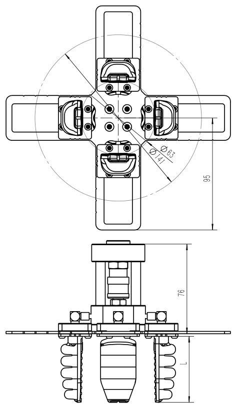圓周型C14手爪