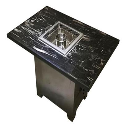 大理石电磁炉下沉式无烟火锅桌