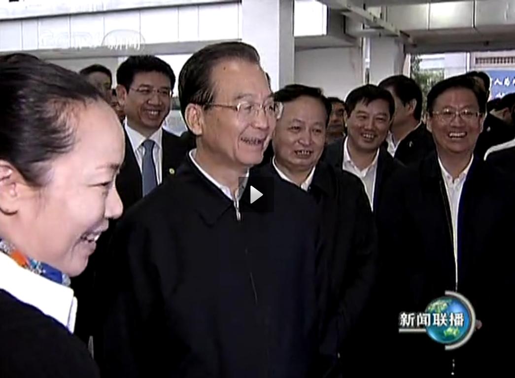 """04.2010年10月,時任國務院總理溫家寶視察武漢,觀看""""天地圖"""",給予高度評價。"""