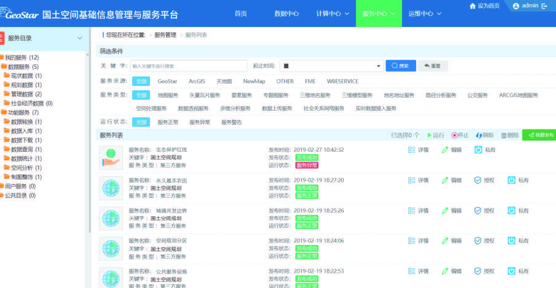 武大吉奧國土空間基礎信息平臺方案-網站版圖-2指標管理與模型管理-3