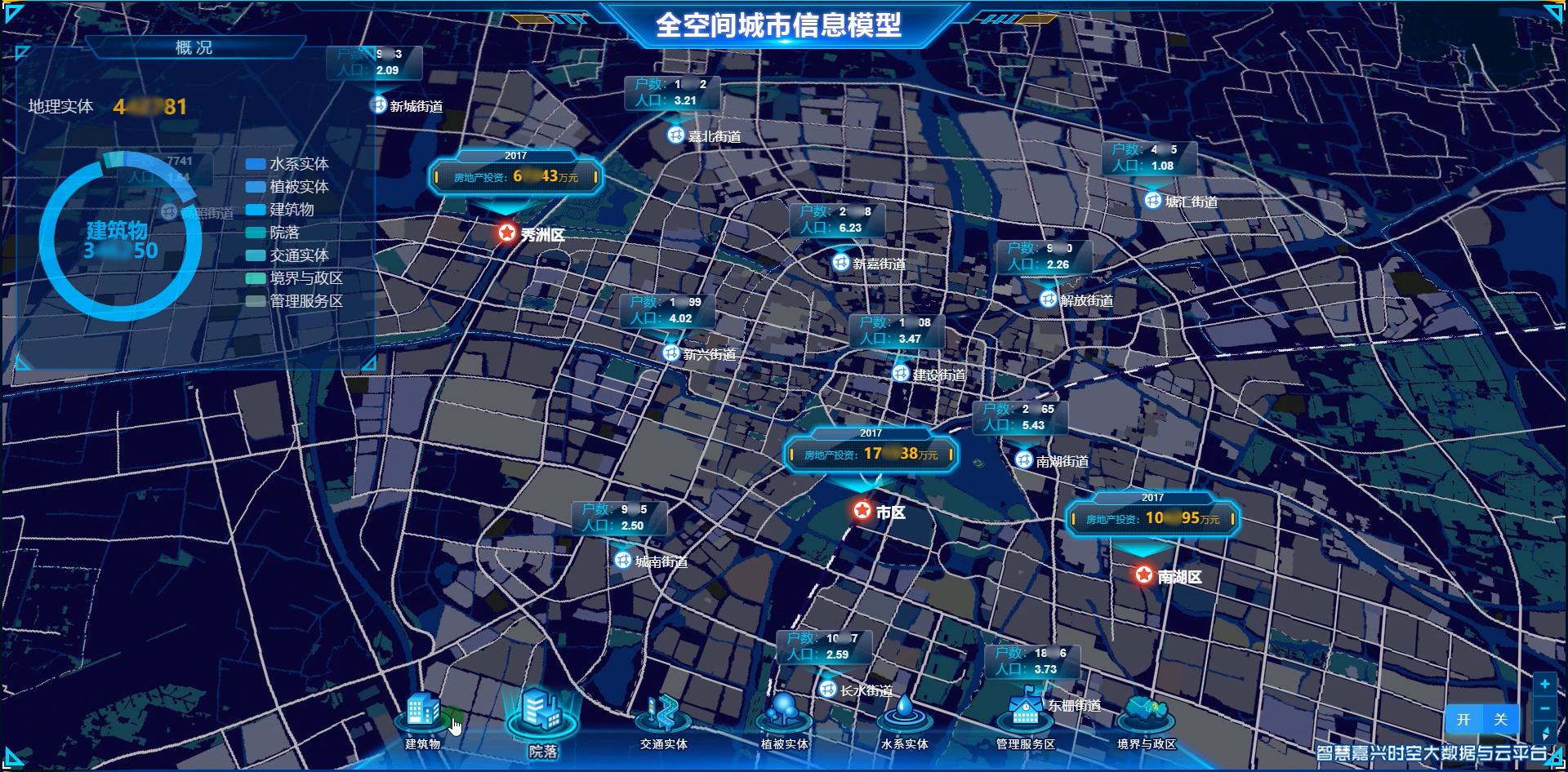 """1.智慧嘉兴""""城市脉动""""数据模糊图"""