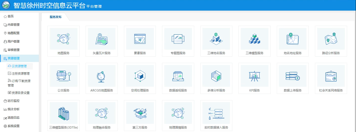 平台管理-服务发布支持类型