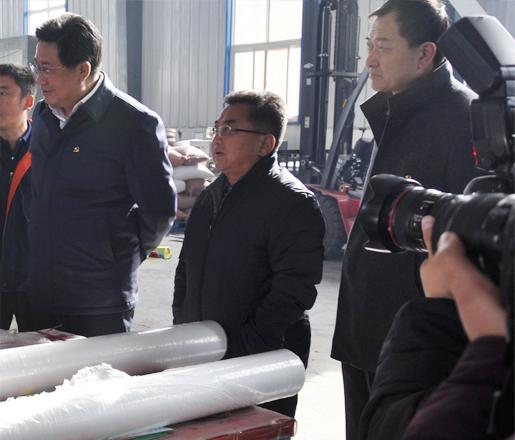 榆林市農業局局長李懷珠來我公司指導工作