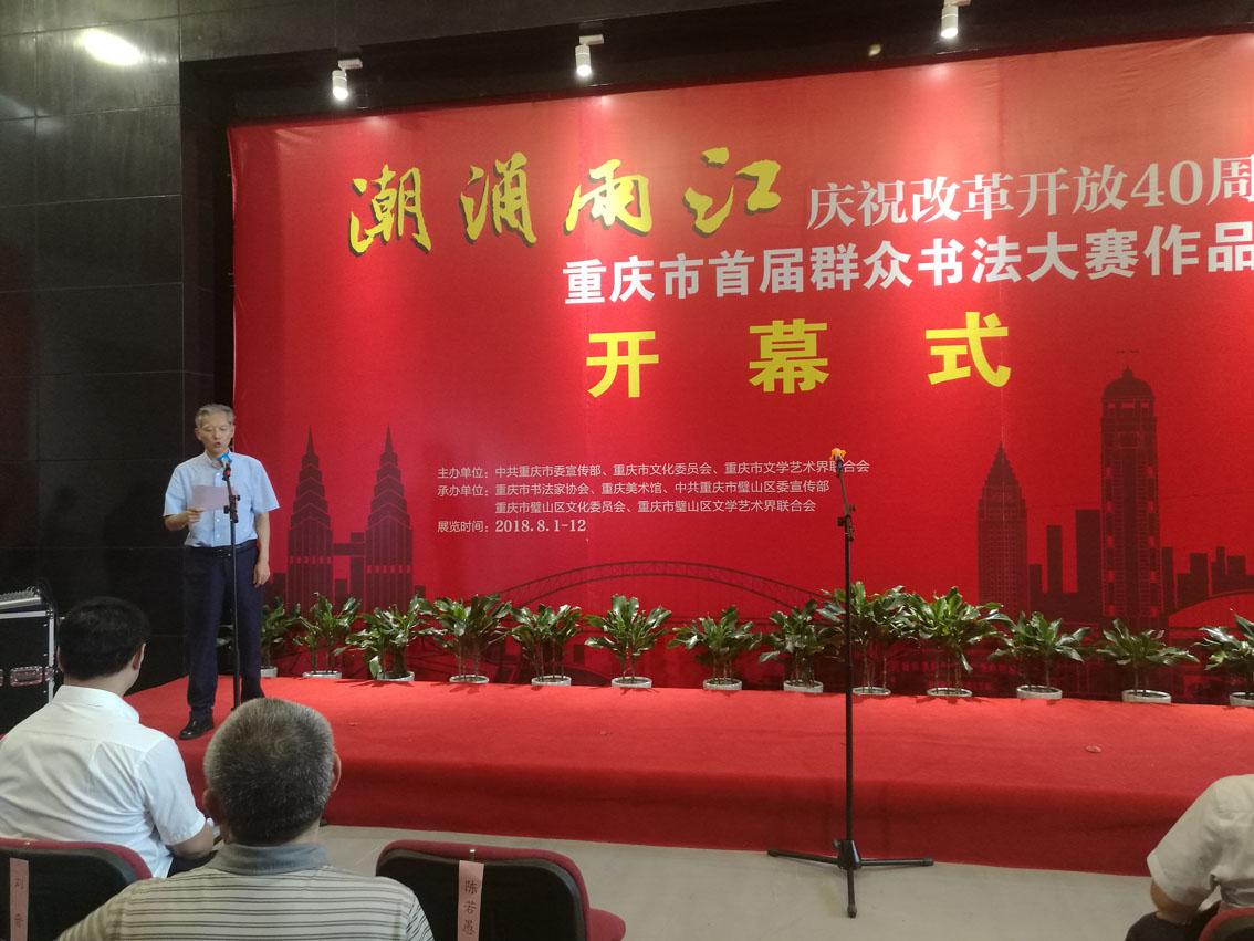 重庆市首届群众书法大赛作品展开幕现场