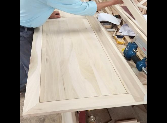 原木墙板质检