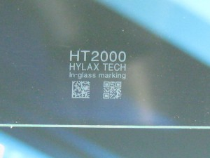Debris Free glass marking