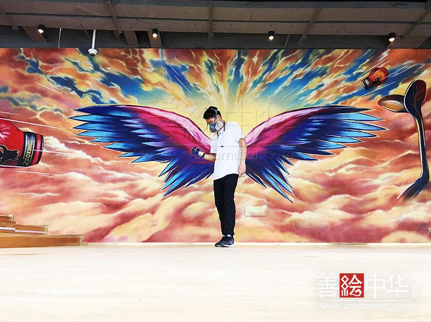 [原创设计] 邹市明 · 上海拳击运动馆涂鸦
