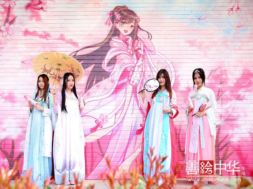 上海 · 宝山 · 顾村公园墙绘