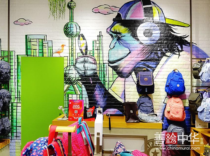 kipling背包品牌原创涂鸦作品