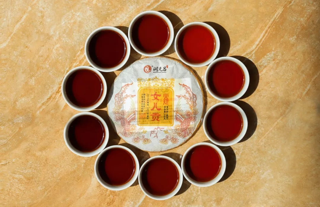 润元昌女儿贡普洱茶开汤-1